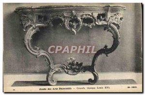 Old Postcard Musee des Arts Decoratifs Console Louis XV
