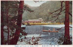 Yunoko and Yumoto Hot Spring, Nikko, Japan, Early Postcard, Unused