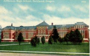 Portland, Oregon - A view of the Jefferson High School - c1908