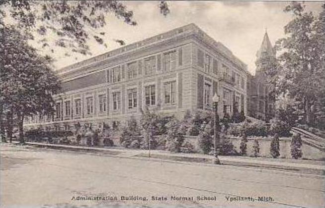 Michigan Ypsilanti Administration Building State Normal School Albertype