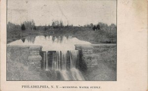 Municipal Water Supply, Philadelphia, New York, Early Postcard, Used in 1911