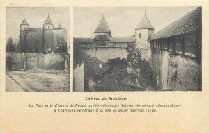 Suisse chateau de Grandson Bussigny - Lausanne ensemble timbre rare 1920