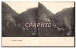 Stereoscopic Card - Gedre and Taillon - Old Postcard