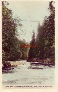 CAPILANO SUSPENSION BRIDGE VANCOUVER BC CANADA 1953