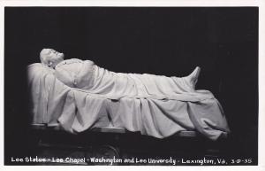 RP; Lee Statue, Lee Chapel, Washington and Lee University, Lexington,Va.,30-40s