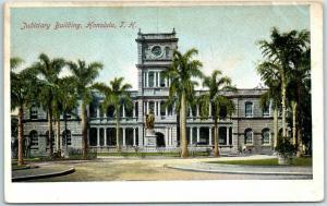 Honolulu, Hawaii Postcard Judiciary Building Court House Street View c1900s