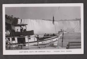 Real Photo  View Of American Falls & Maid Of The Mist Tour Boat