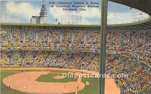 Cleveland Indian, Cleveland Municipal Stadium Cleveland, Ohio, OH, USA Stadiu...