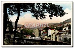 Royat Old Postcard General view L & # 39eglise and the Puy de Dome