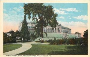 Philadelphia Pennsylvania~Curved Path~Horticultural Hall at Fairmount Park 1920