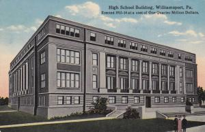 High School Building, Williamsport, Pennsylvania, Erected 1913-14 at a cost o...