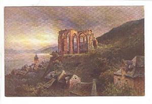Panorama, Die Wernerkapelle In Bacharach (Rhineland-Palatinate), Germany, 190...
