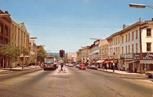 Danbury Connecticut~Main Street~Lorraine's Bridal~Motor Inn~1960s Cars~Postcard