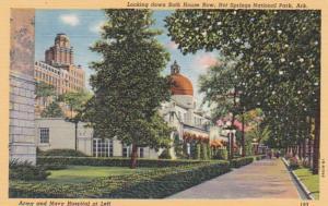Arkansas Hot Springs Bath House Row Army and Navy Hospital At Left Curteich