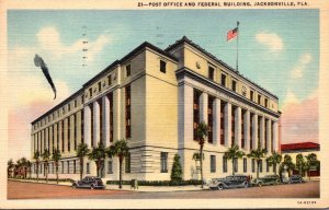 Florida Jacksonville Post Office and Federal Building 1942 Curteich