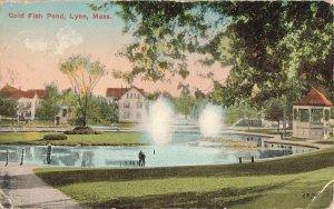 Postcard Gold Fish Pond, Lynn, Massachusetts ME3.