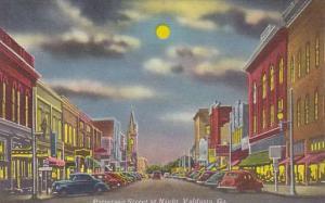 Patterson Street at Night, Valdosta, Georgia,30-40s