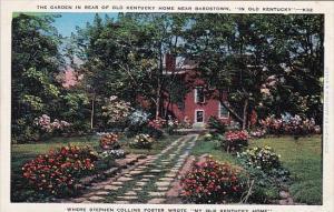 The Garden In Rear Of Old Kentucky Home Near Bardstown In Old Kentucky