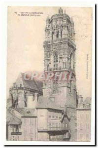 Rodez Old Postcard Tower of the Cathedral of Rodez