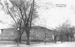 Covington Indiana~High School~Mrs James Sander Attended 1930-33~c1950 RPPC