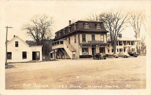 Alfred ME Post Office IGA Store Old Cards RPPC Postcard