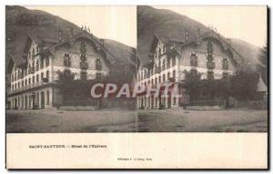 Stereoscopic Card - Saint Sauveur - Hotel of the Universe - Old Postcard