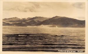 Sutcliffe NV Pyramid Lake~Real Photo Postcard~RPPC c1928