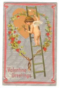 Valentine , Cherub trims heart bush, PU-1912