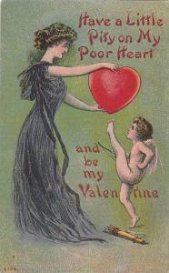 Lady & Cherub,  Have A Little Pity On My Poor Heart And Be My Valentine, PU-1914