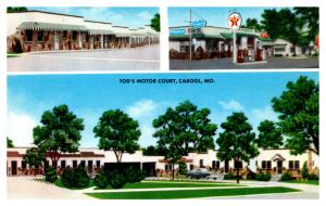 Missouri Cabool , Tod's Motor Court , Texaco Station,   Motel