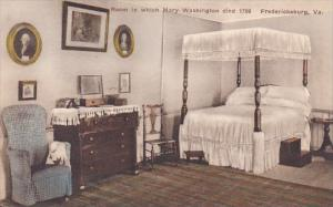 Room In Which Mary Washington Died 1789 Fredericksburg Virginia Albertype
