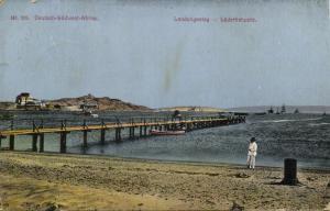 german south west africa, LÜDERITZ BAY, Pier (1920) Postcard