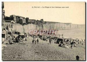 Old Postcard Onival The Beach and Cliffs Around Ault