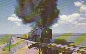 Union Pacific Railroad #8444 Oil Fired Locomotive Near Yoder Wyoming