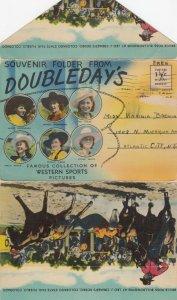 Folder Postcard of Doubleday's Rodeo Views, 1930-40s