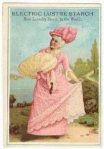 TC  ELECTRIC Lustre Starch, Boston, Massachusetts, 1890sVictorian Woman