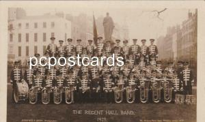 Regent Hall Band 1923 - Real Photo Postcard by Faulkner & Beeby Holloway London