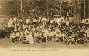 siam thailand, BANGKOK, Crowd of Natives ready for Procession at Dusit Park 1899