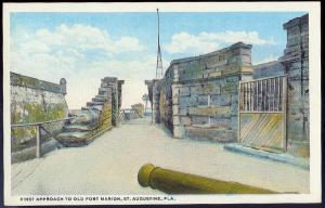 Approach to Fort Marion St Augustine FL unused c1915