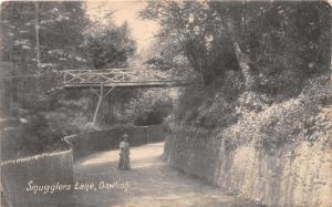 DAWLISH DEVON UK SMUGGLERS LANE~CHAPMAN & SON POSTCARD 1906