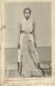 straits settlements, SINGAPORE, Beautiful Malayan Girl Dancer (1902)