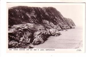 Rugged Coastline, Logy Bay Newfoundland, Real Photo