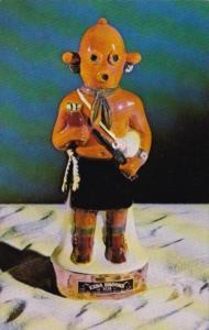 Hopi Indian Kachina Doll Whiskey Decanter Ezra Brooks Distilling Company Fran...