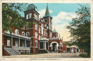 Spartanburg South Carolina~Elaborate Architecture~Converse College~1920 Postcard