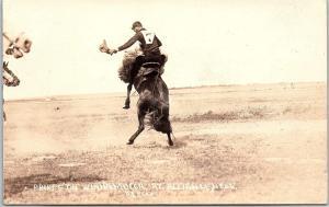 RPPC Phipps On Winnamucca At Alliance Nebraska Rodeo Real Photo Postcard