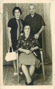 Postcard Social history family portrait 1965
