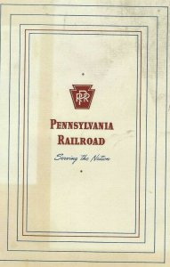 MK-078 Pennsylvania Railroad On Board Menu July 16, 1947 Vintage PRR Railway
