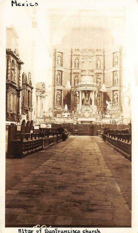 Altar of San Francisco Church, Mexico Interior 1932 Vintage Photo