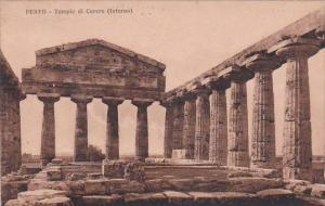 Italy Pesto Tempio di Cerere Interno