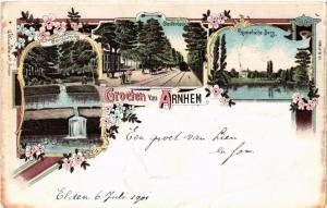 CPA Groeten uit ARNHEM Litho NETHERLANDS (604648)